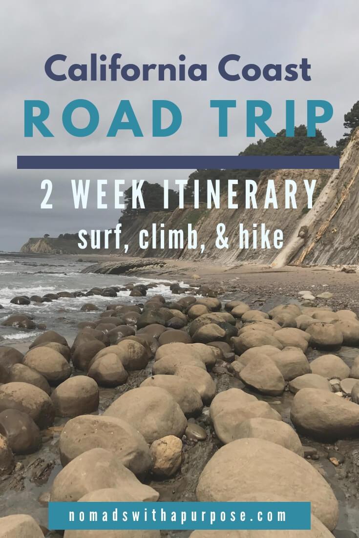 2 Week California Coast Road Trip - Where to Surf Climb Hike