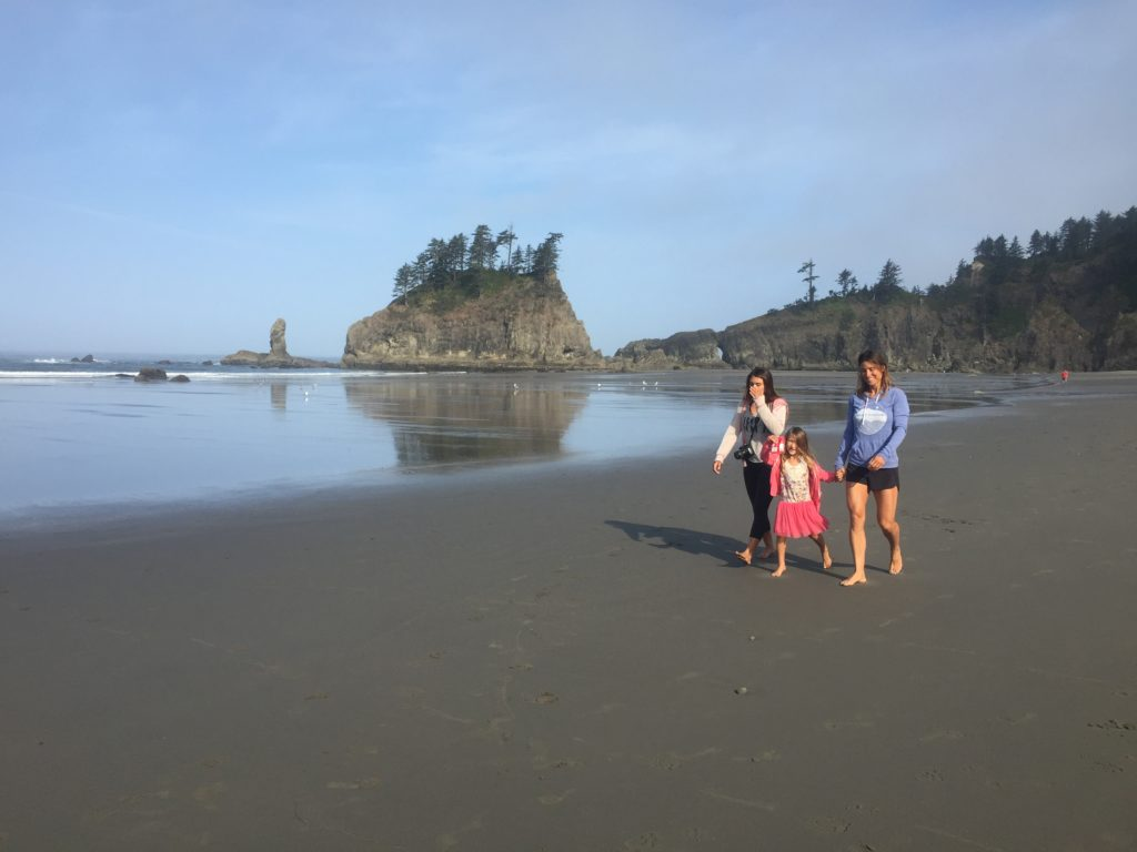 nomads at Second beach in Olympic National Park