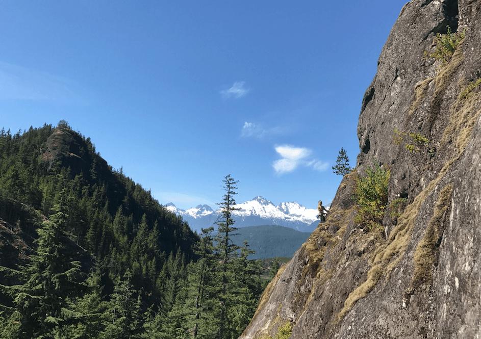 Rock climbing Chek, Sea to Sky highway road trip