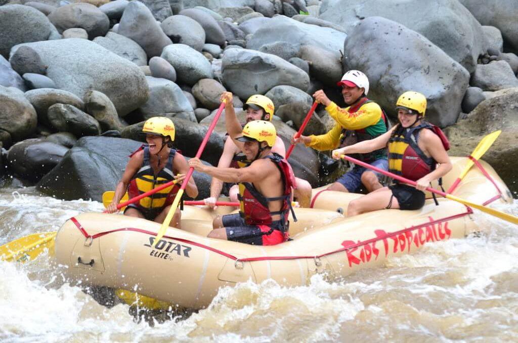 live adventurous life, white water rafting Costa Rica