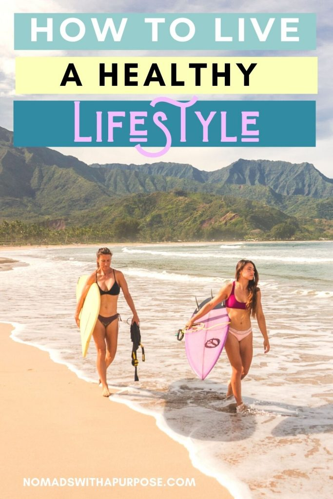 live healthy lifestyle pin