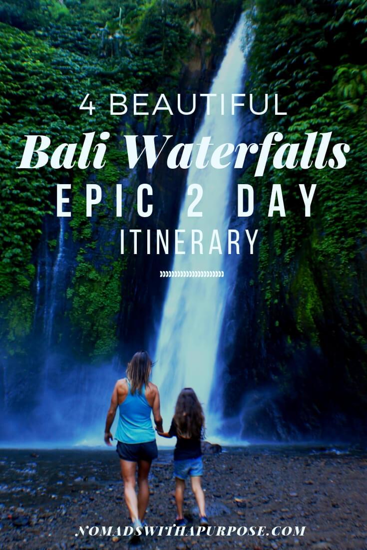 beautiful Bali waterfalls: epic 2 day itinerary