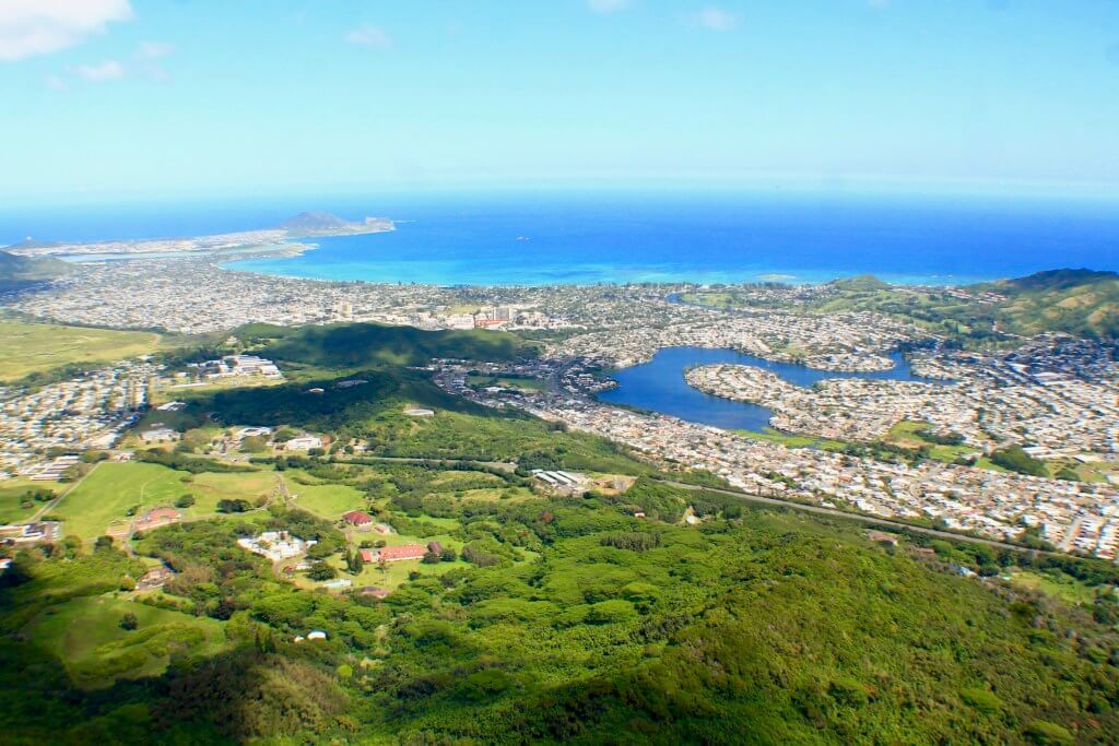View from the Olomana hike, outdoor adventure Oahu
