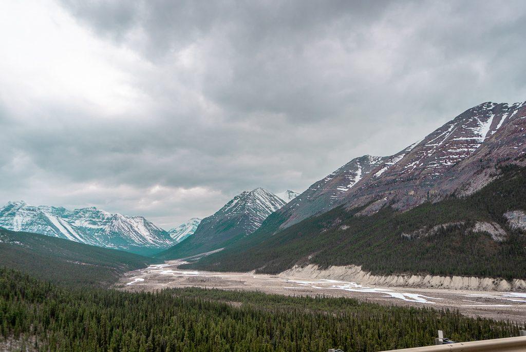 Leaving Summit Lake, Alaska Highway