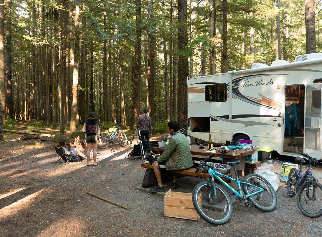 Alice Lake PP Campground in Squamish