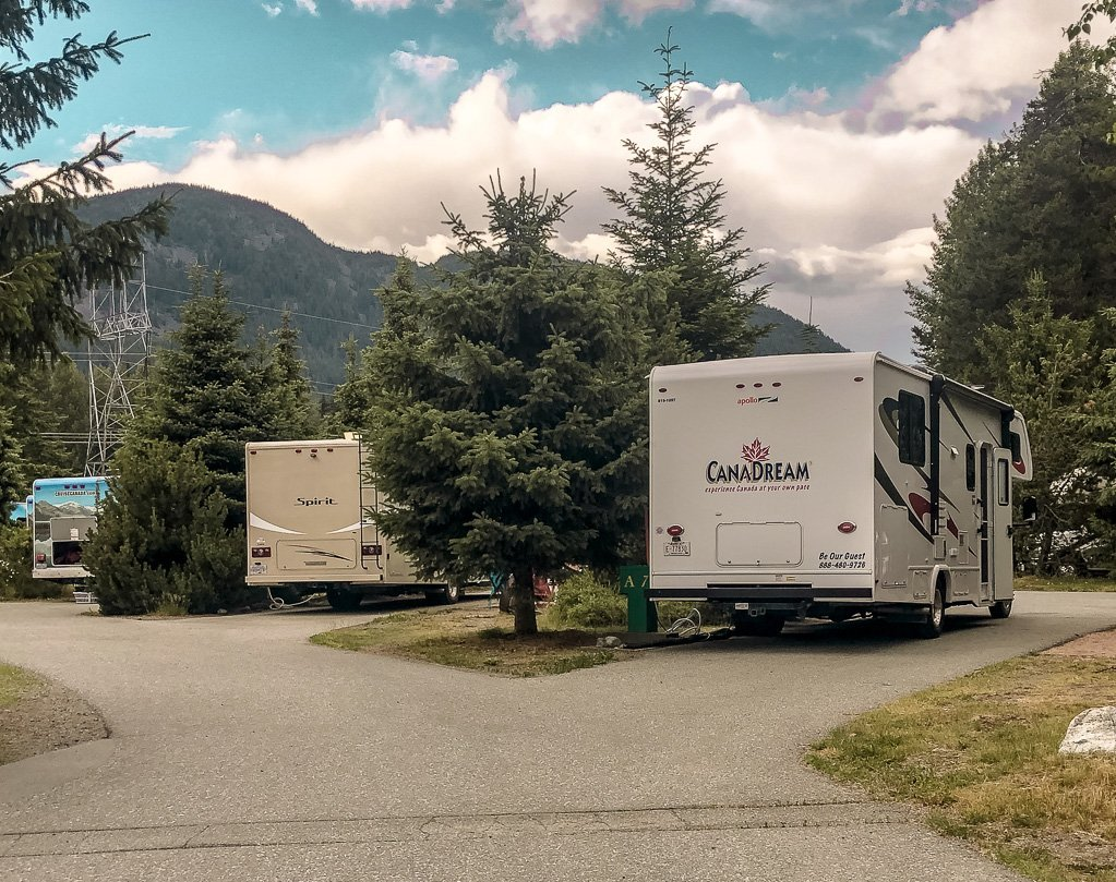 Camping in Whistler at Riverside RV Park