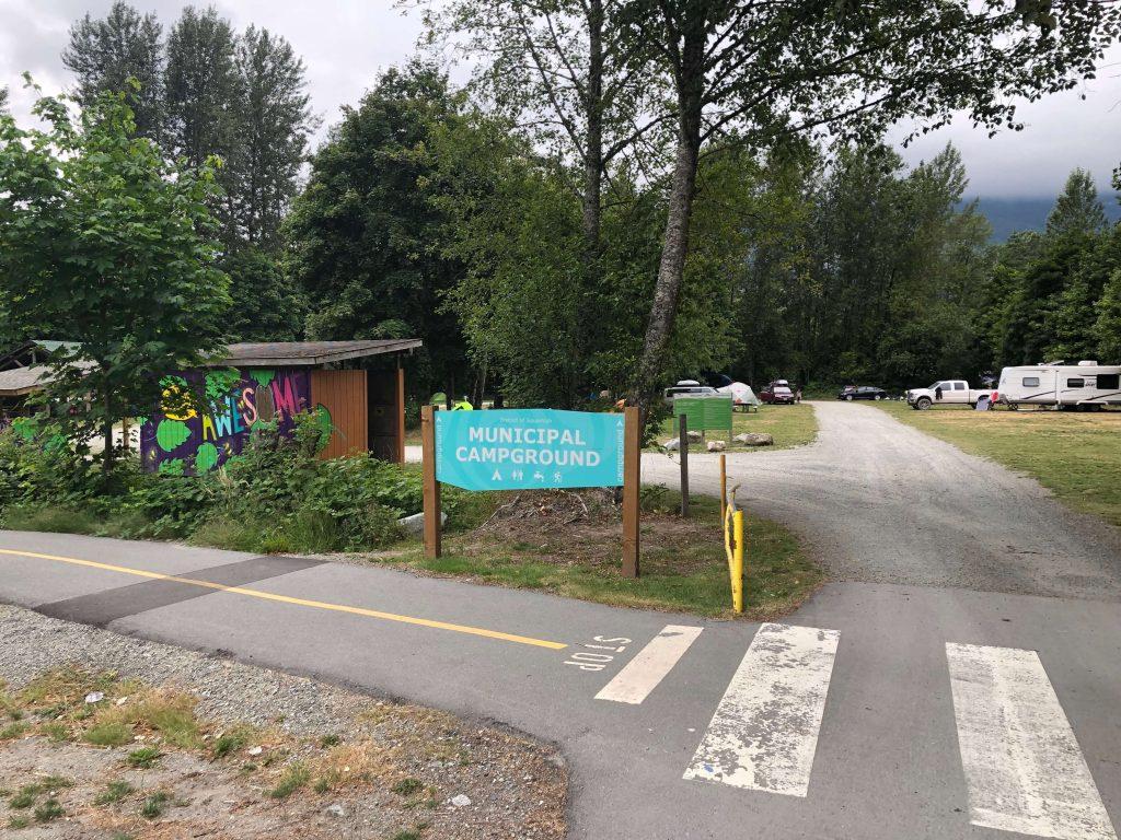 Squamish Municipal campground