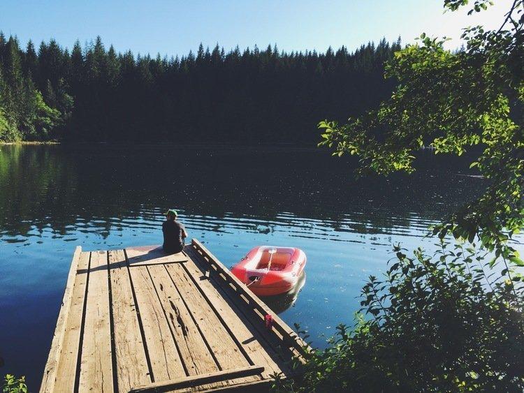 Cat lake recreation area near Squamish