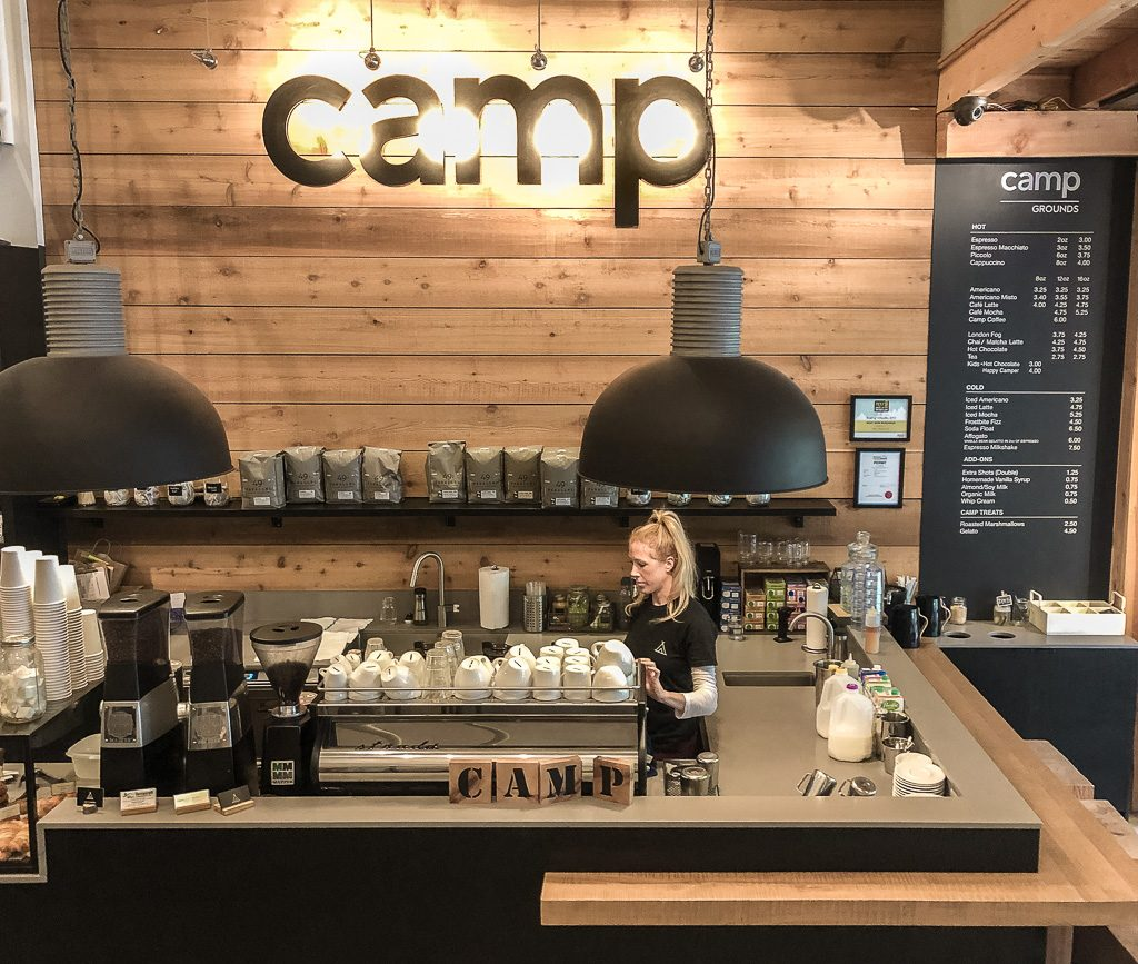 Rustic vibe at Camp Coffee + Lifestyle Co