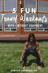 travel workouts with and without workout