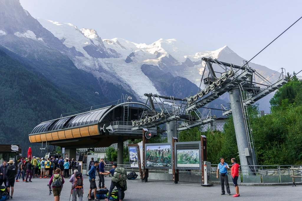 Le Brevent Cable car from Chamonix to the Tour du Mont Blanc