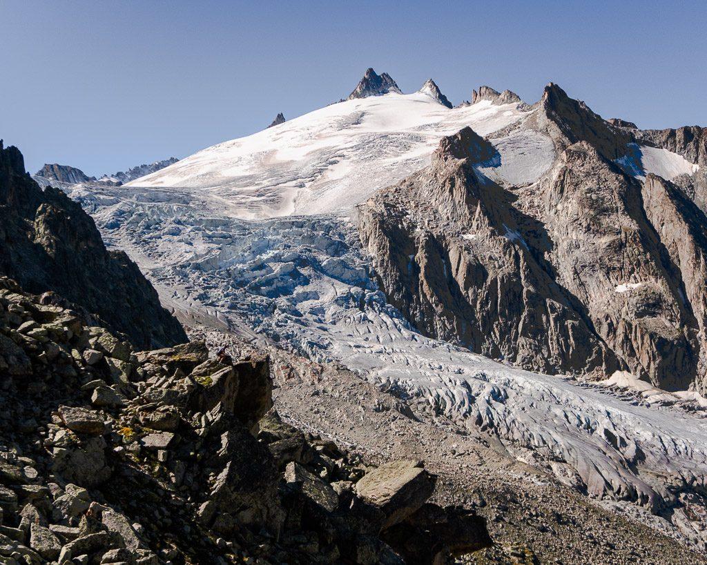 Trient glacier, Tour du Mont Blanc alt stage 8, Fenetre d'Arpette descent, Swiss Alps