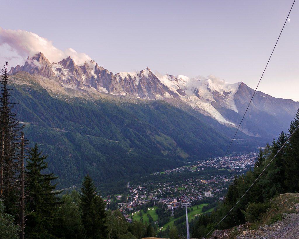 La Flegere decsent, Tour du mont blanc, French alps