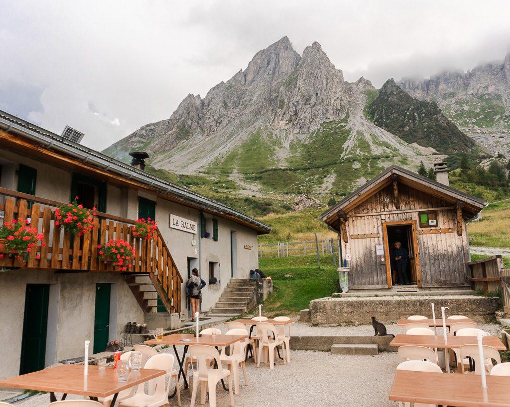 Chalet Refuge de la Balme on the Tour du Mont Blanc stage 2