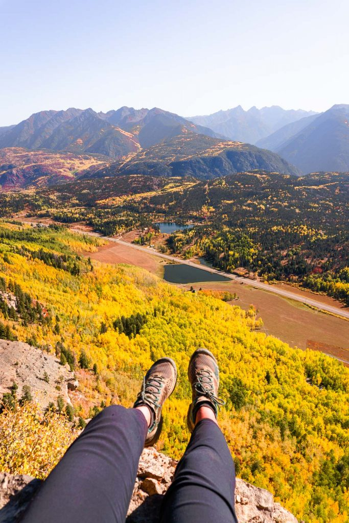 Castle Rock Hike on the Million Dollar highway in fall
