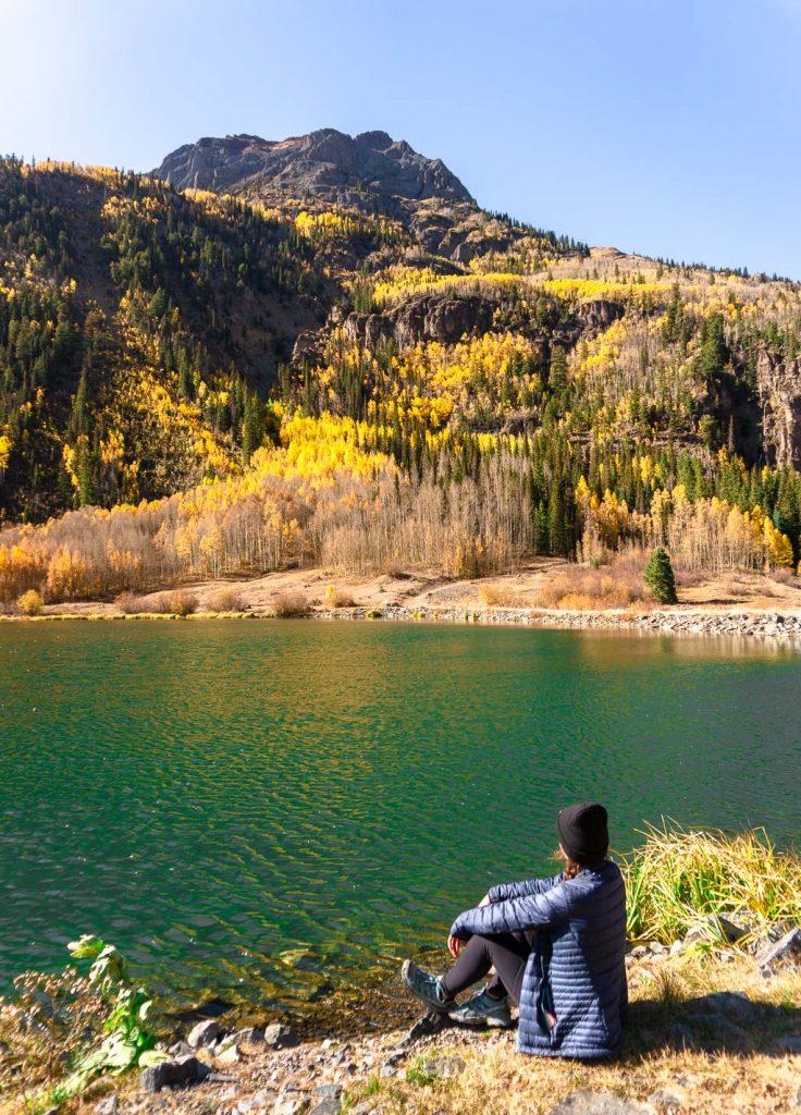 Crystal Lake, scenic stops Million Dollar Highway, colorado