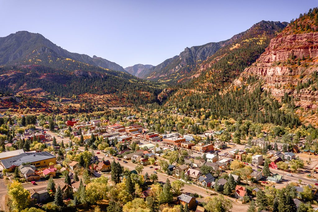 Ouray, colorado located along the Million Dollar Highway