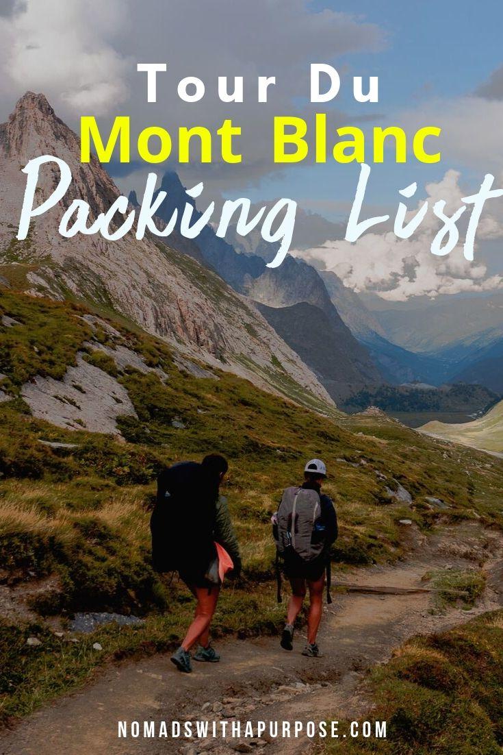 Packing List for Tour du Mont Blanc