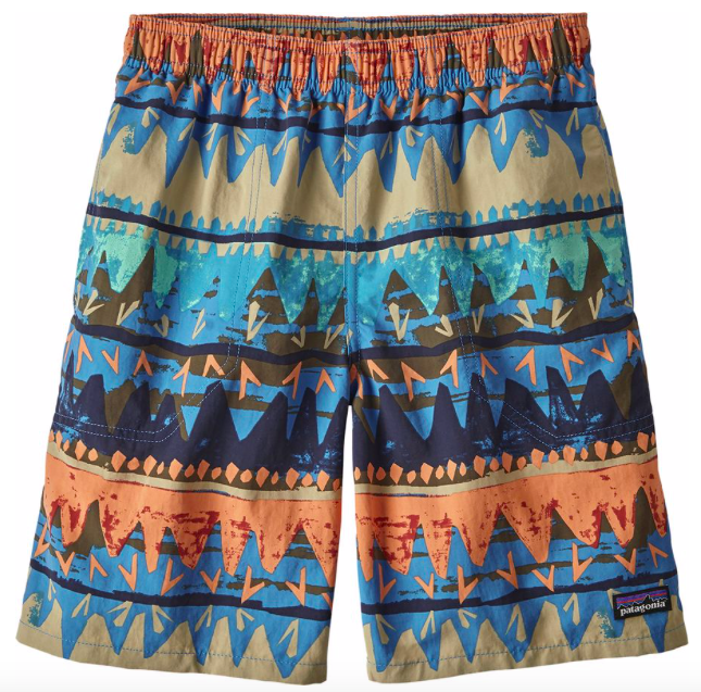 Patagonia boys board shorts to pack for hawaii
