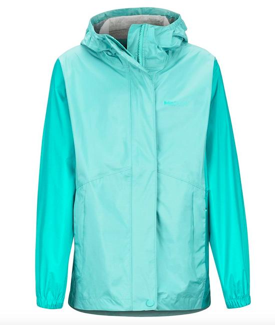 girls PreCip Eco rain jacket for a hawaii trip