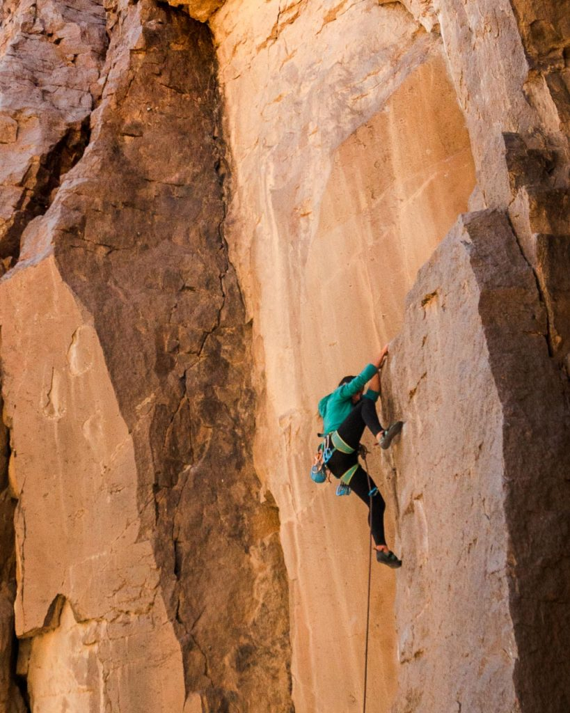 Climbing in Bishop CA