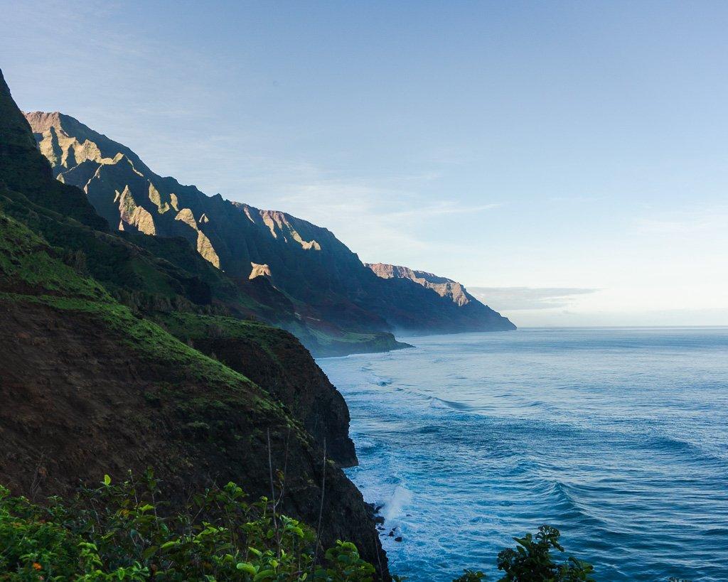 Na Pali Coast sunny skies