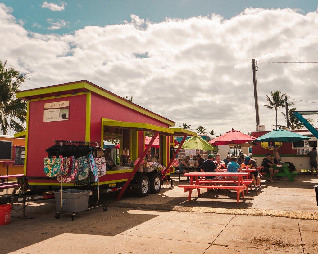Food trucks in Kapaa, Kauai