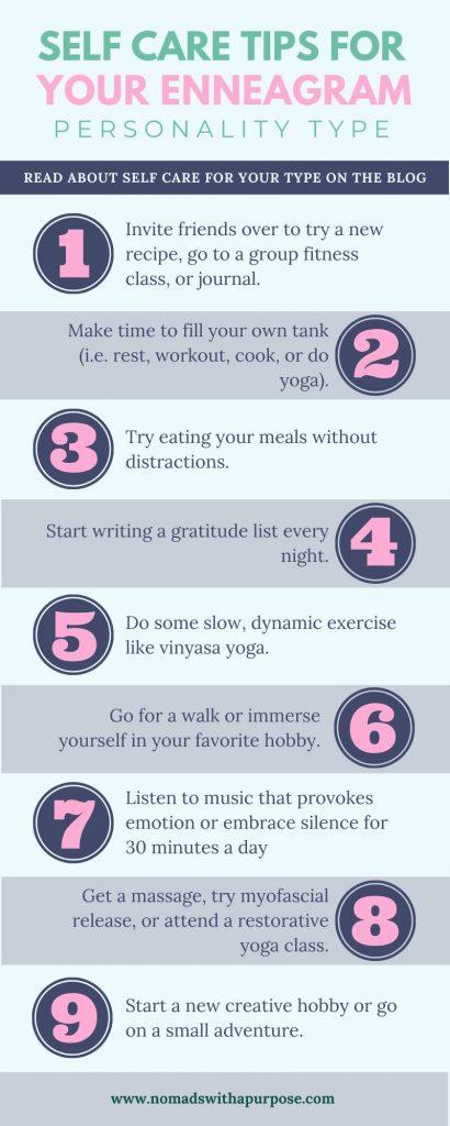 self care for each enneagram