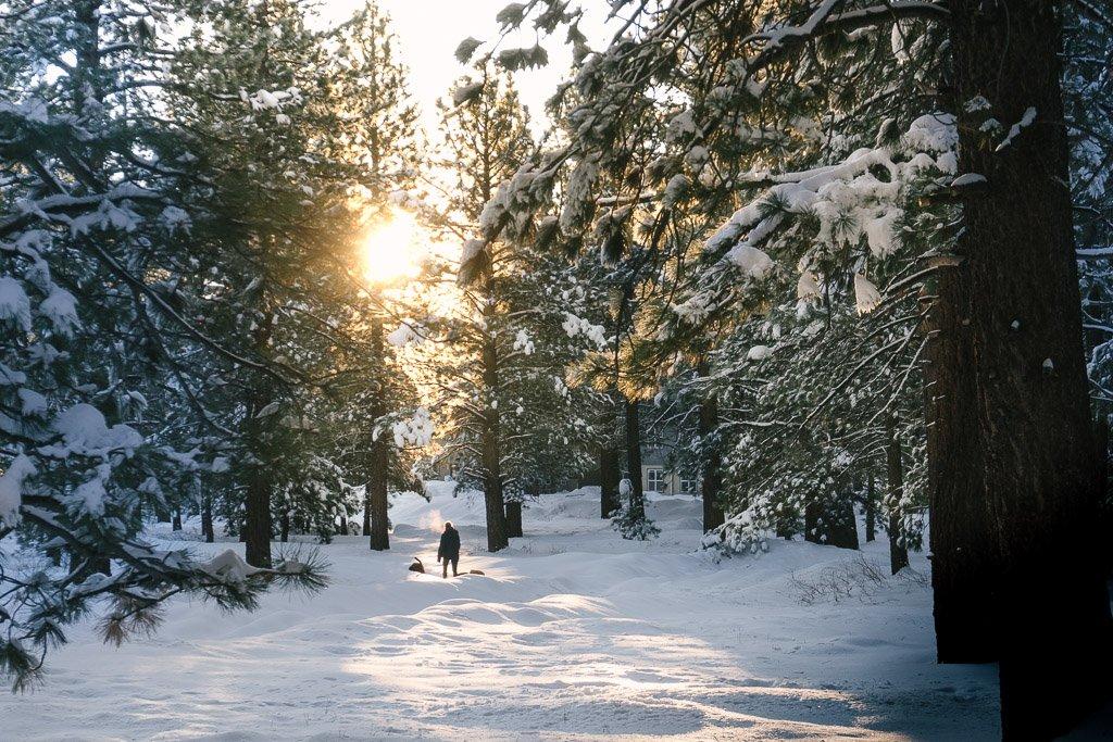 Winter in the Eastern Sierras, Big Bear, Southern California