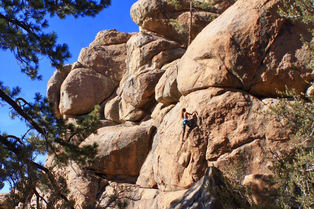 Rock climbing in Holcomb Valley, Big Bear