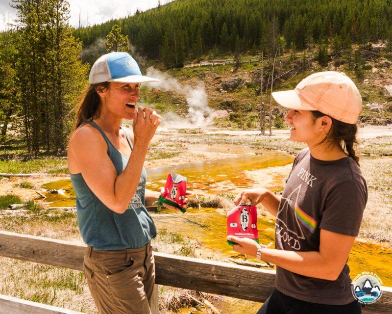 Healthy Hiking sNacks at Yellowstone