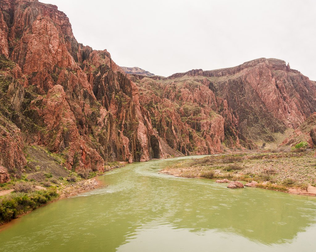 Hiking along the Colorado River, Rim to River Trail