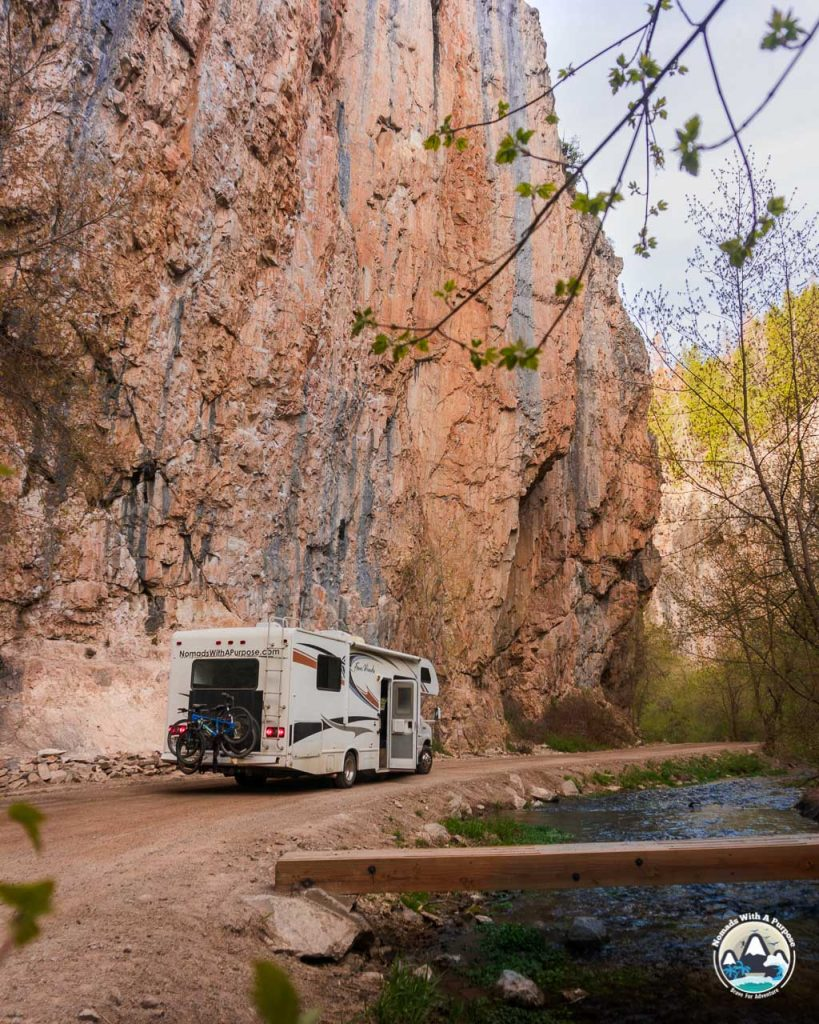 RV life in Rifle Canyon