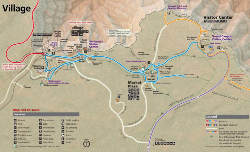 Grand Canyon NPS Bus Map