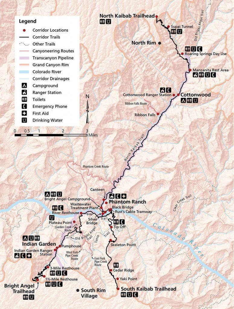 Grand Canyon Trail Map