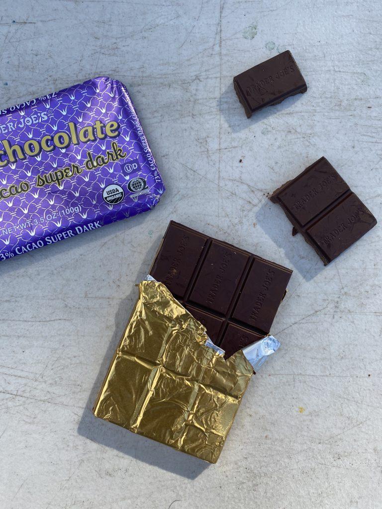 Best hiking snacks chocolate