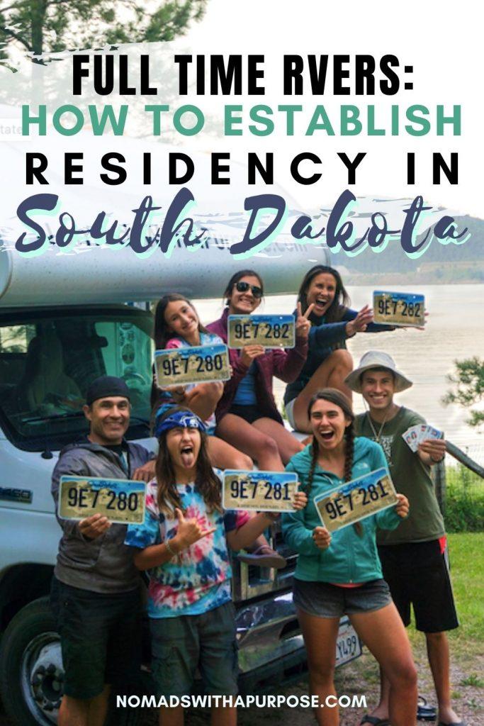 Full Timer RVers, South Dakota Residency