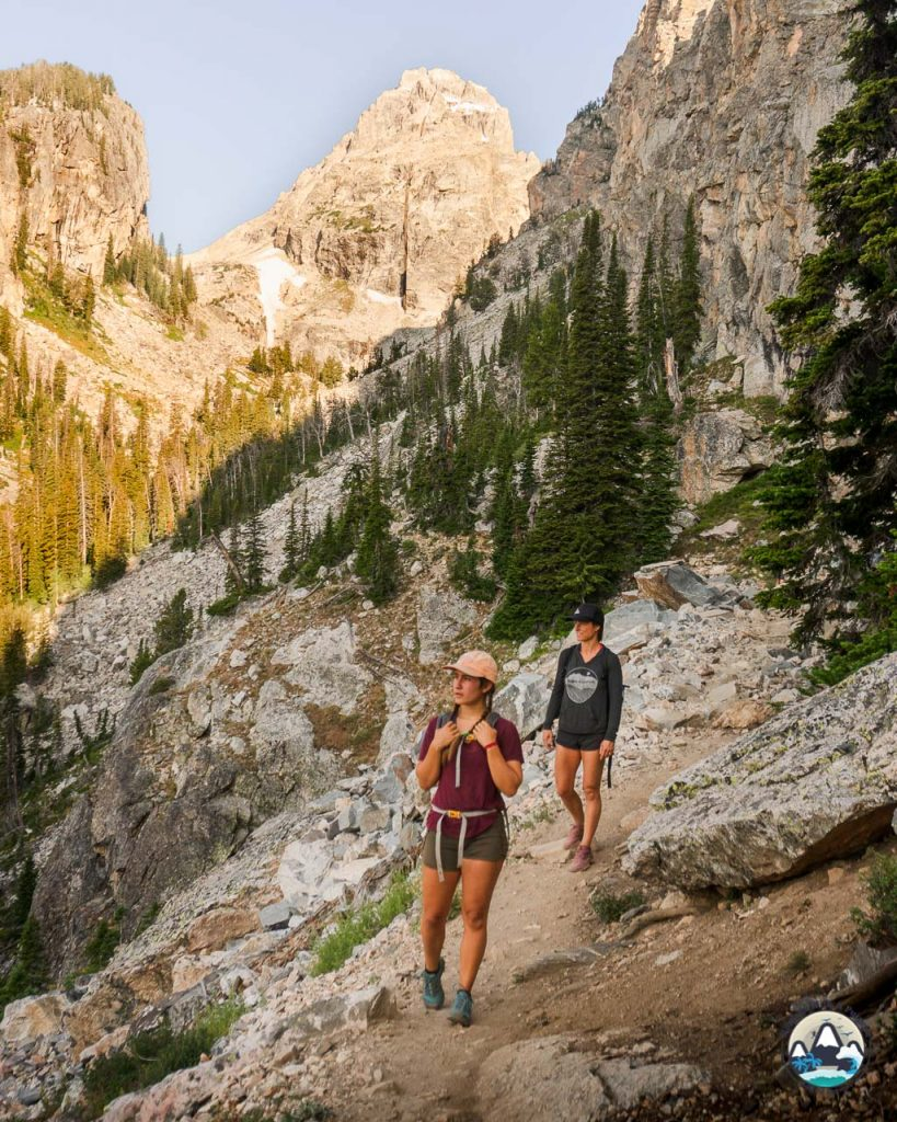 Middle Teton trail