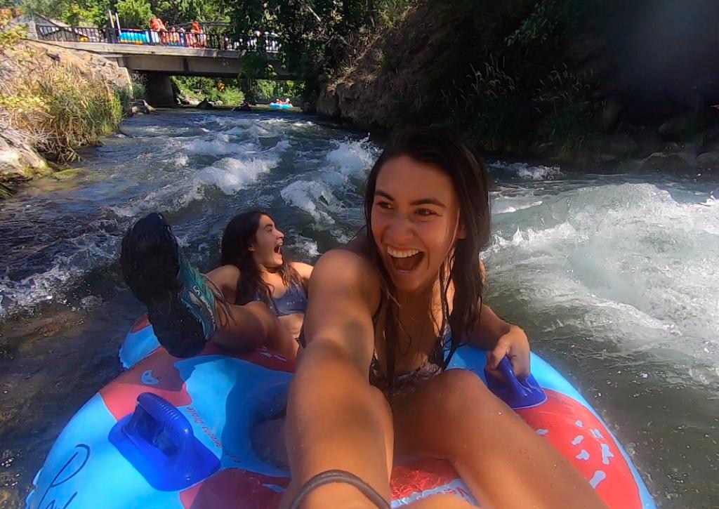 Inner tubing Lava Hot Springs