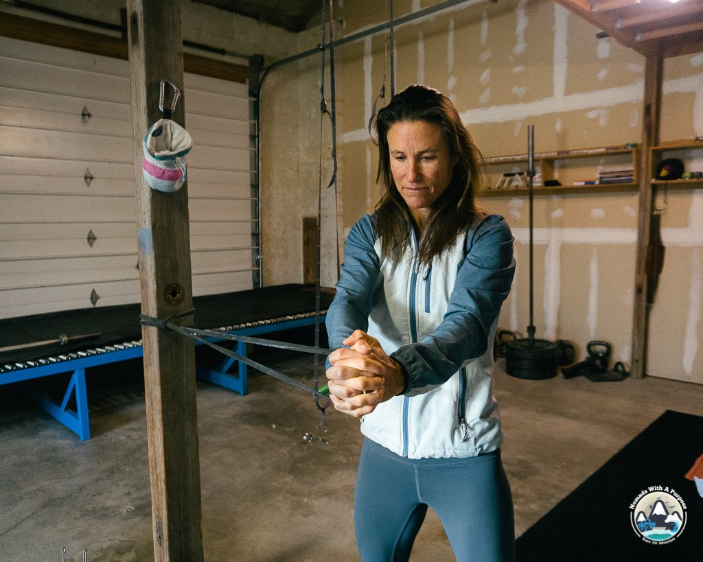 fit for skiing workout program, core rotation