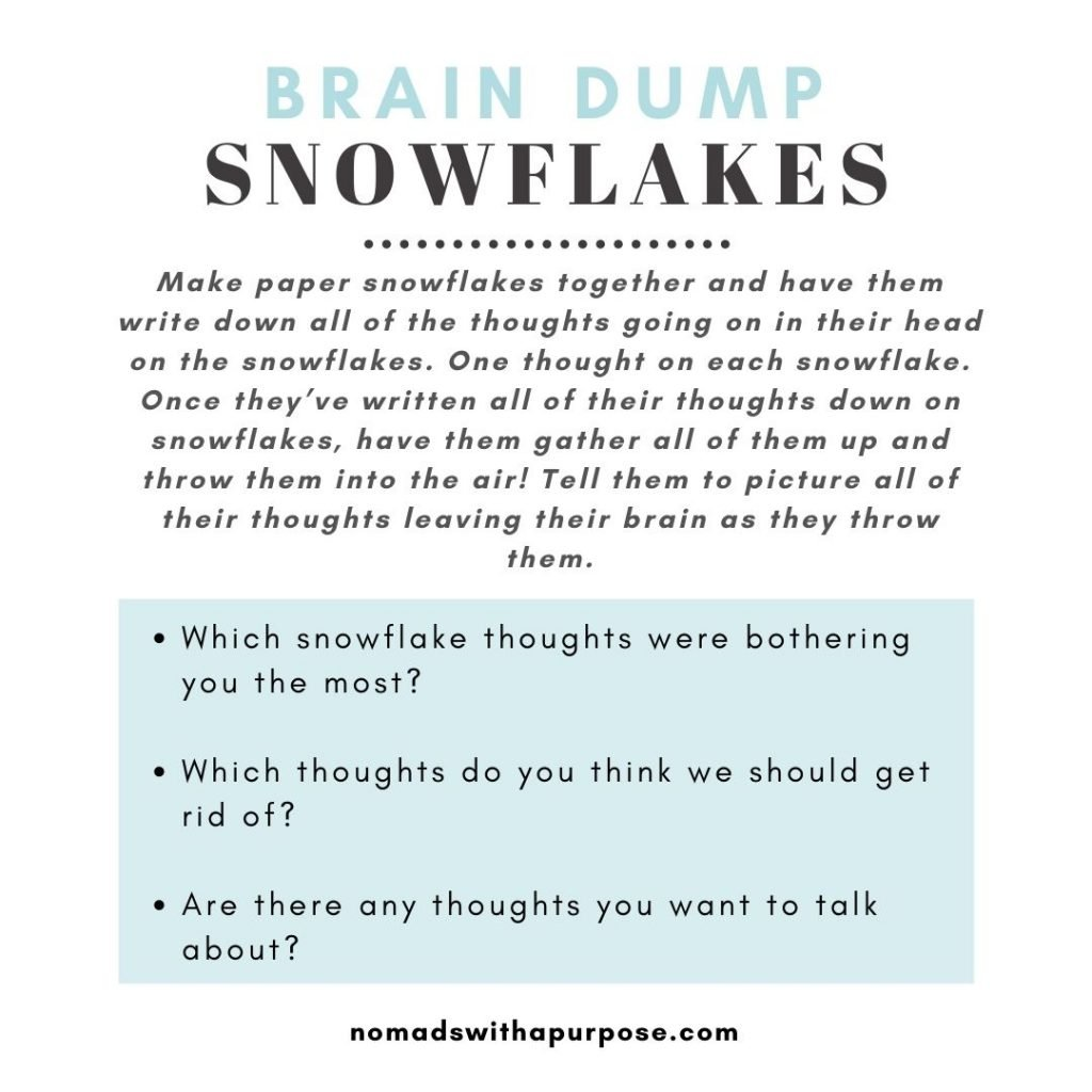 Holiday Mindfulness For Kids Snowflakes