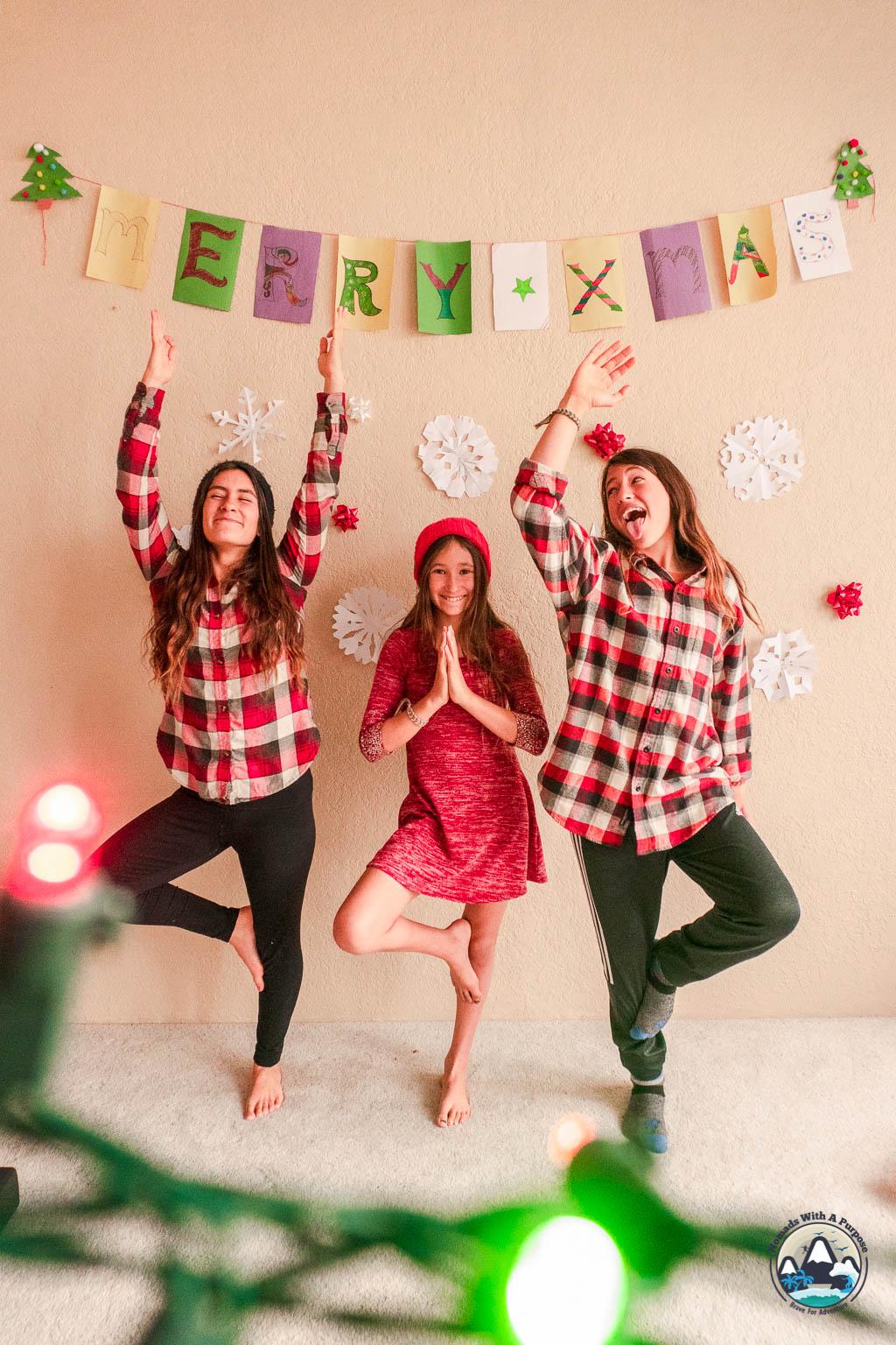 Kids Holiday Mindfulness Christmas Tree Pose