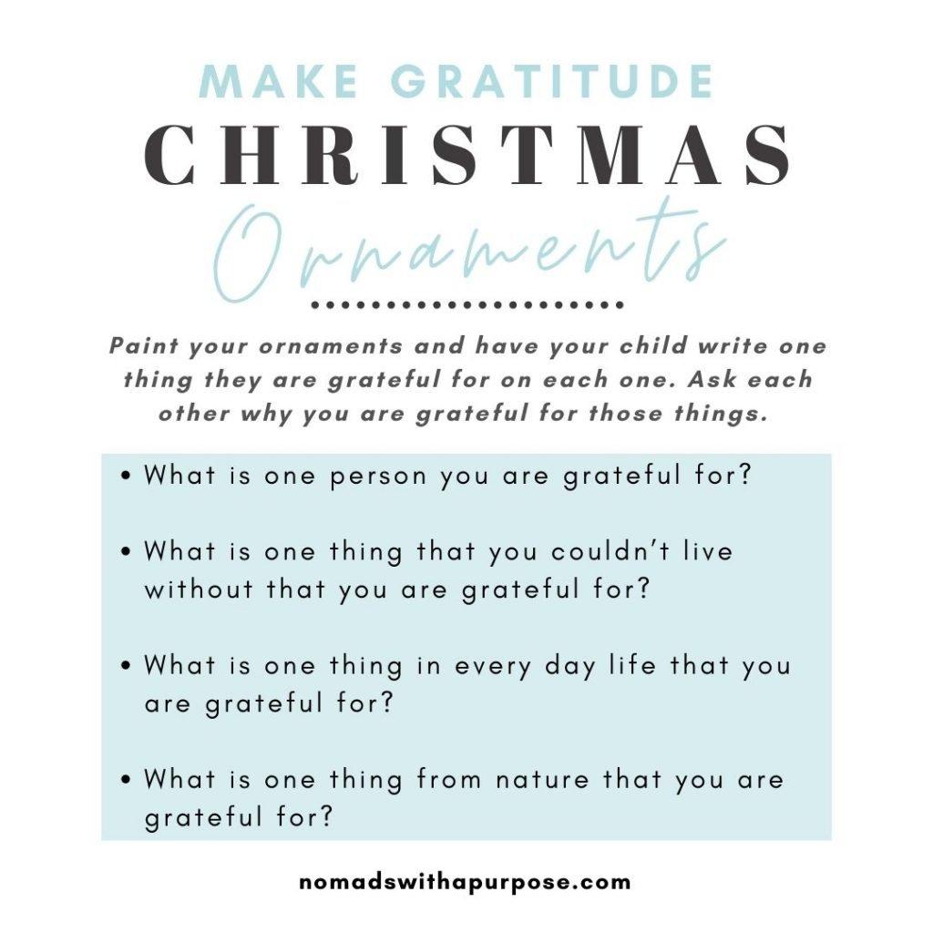 Holiday Mindfulness For Kids Gratitude Ornaments