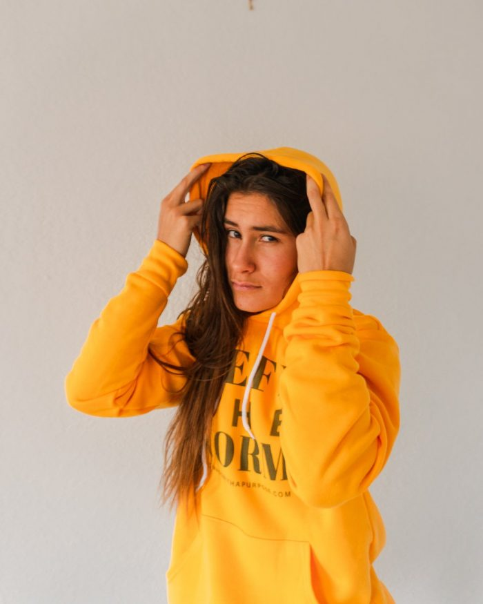 Unisex Gold Hoodie, Defy the Norm Winter collection