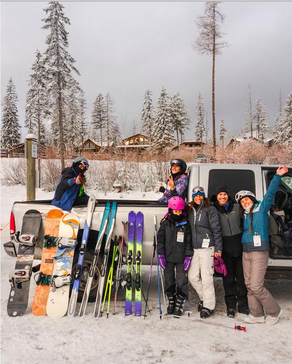 Family Skiing Whitefish Resort, Montana