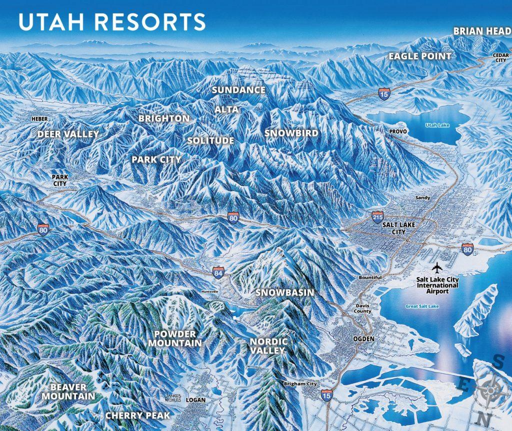Ski Utah Map overview