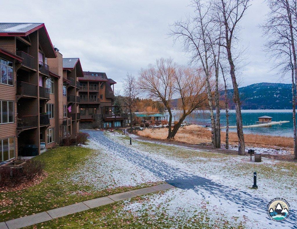 Lake views, Lodge at Whitefish Lake