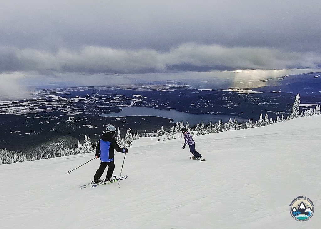 Front side of Whitefish Mountain Resort,