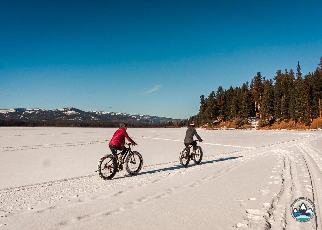 Fat biking, things to do Seeley Lake, winter