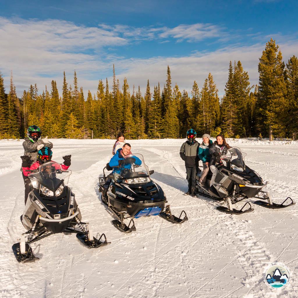 Snowmobiling at Seeley Lake